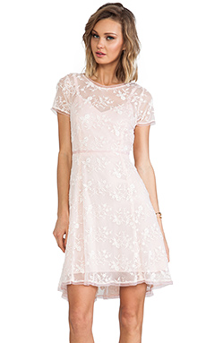 Nanette Lepore Lacy Not Racy Dress in Blush