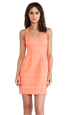 Nanette Lepore Sizzling Dress in Coral