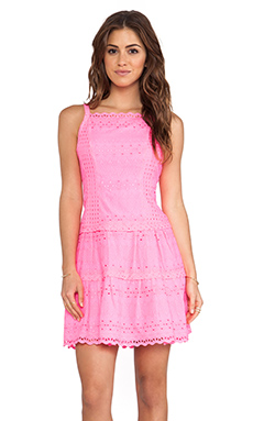 Nanette Lepore Wind Swept Dress in Fiesta Pink