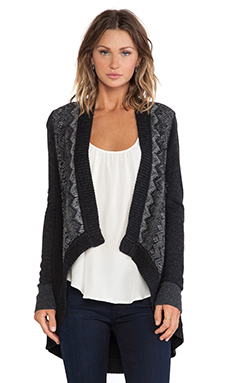 Nanette Lepore Cross Examine Cardigan in Black Multi