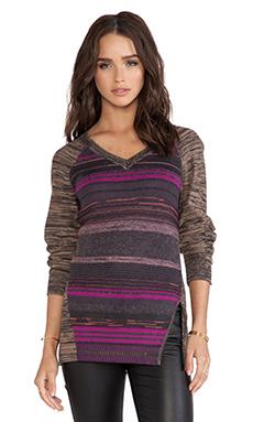 Nanette Lepore Striped Pullover in Blush Multi