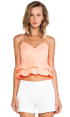 Nanette Lepore Guilty Pleasure Crop Top in Coral