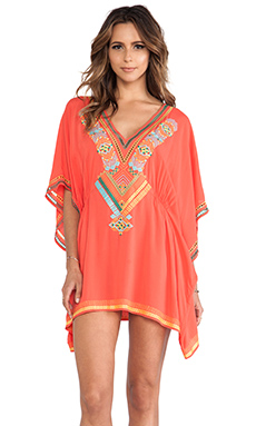 Nanette Lepore Mayan Riviera Caftan in Red