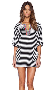 Nanette Lepore Merengue Cover Up in Black & White