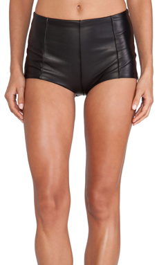 NOE Undergarments Edward Leather Shortie in Black