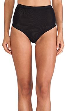 NOE Undergarments Peter High-Rise Thong in Black