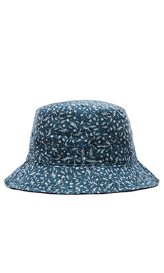 Norse Projects Reversible Discharge Bucket Hat in Indigo