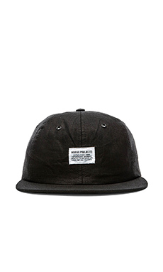 Norse Projects Linen 6 Panel Cap in Black