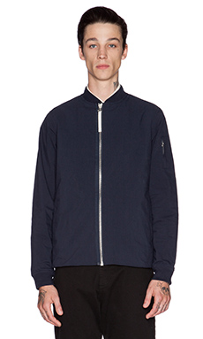 Norse Projects Ryan Ripstop Bomber Jacket in Dark Navy