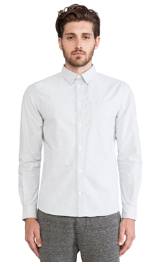 Norse Projects Anton Heavy Oxford Button Down in Light Grey
