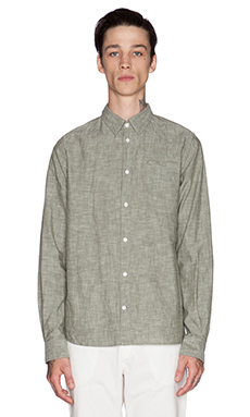 Norse Projects Anton Chambray Button Down in Cedar