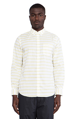 Norse Projects Anton Nautical Cotton Long Sleeve Buttondown in Misted Yellow