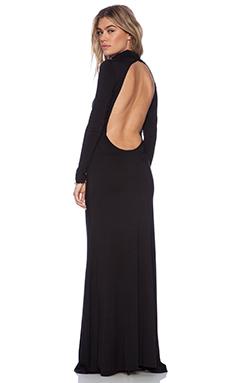 NOVELLA ROYALE Black Bird Maxi Dress in Black