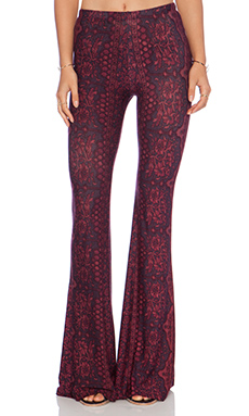 NOVELLA ROYALE Janis Bell Bottoms in Oxblood Chantilly