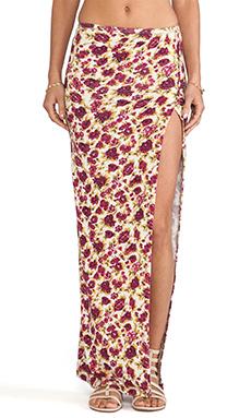 NOVELLA ROYALE Viva Maxi Skirt in Wine Rose