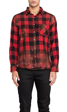 NSF Axel Shirt in Red Destroy