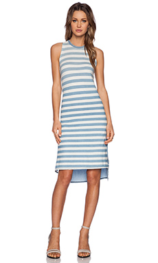 NSF Tako Striped Dress in Sky Fade