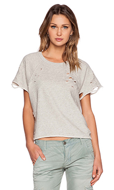 NSF Olivia Short Sleeve Sweatshirt in Heather Destroy
