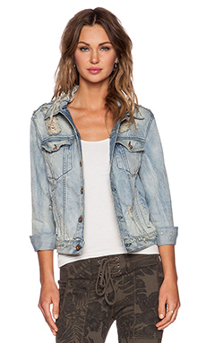 NSF Adam Denim Jacket in Brooks