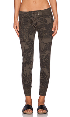 NSF Fuzzy Sweatpant in Army Flora