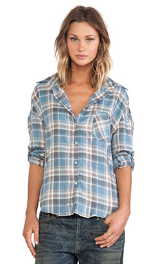NSF Rhodes Button Up un Blue & Brown