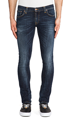 Nudie Jeans Tight Long John in Org. Calm Blues
