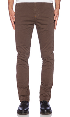 Nudie Jeans Khaki Slim in Dark Brown Dye