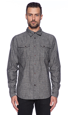 Nudie Jeans Gunnar Shirt in Org. Black Chambray