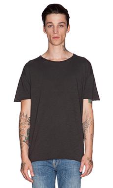 Nudie Jeans Raw Hem T-Shirt Org. Slub in Dark Grey