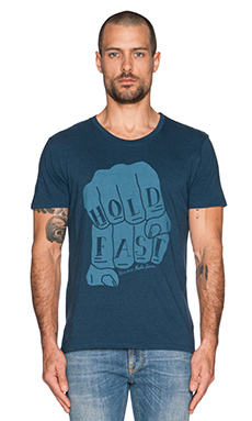 Nudie Jeans Roundneck T-Shirt Org. Hold Fast in Navy Melange