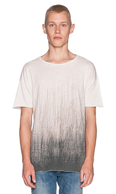 Nudie Jeans Raw Hem T-Shirt Org. Ballpen in Off White Black