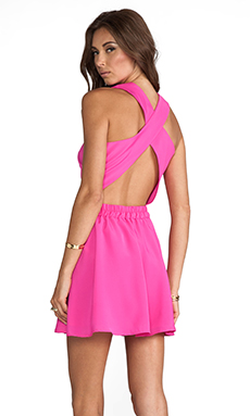 Naven Twisted Circle Dress in Pop Pink