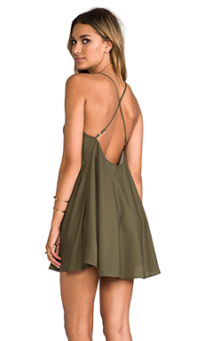 Naven Babydoll Dress in Army