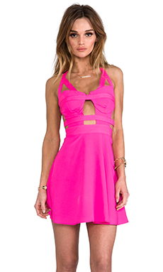 Naven x REVOLVE Bondage Bustier Circle Skirt Dress in Pop Pink