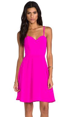 Naven Heartthrob Mini Circle Dress in Pop Pink