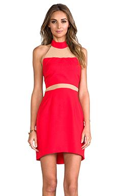 Naven Paneled Peekaboo Dress in Red