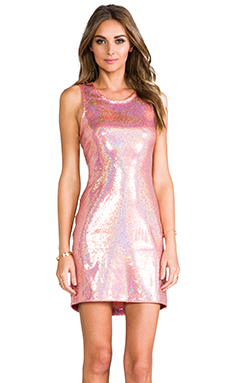 Naven Jagger Dress in Peach Sparkle