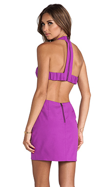 Naven T Back Cutout Dress in Magenta