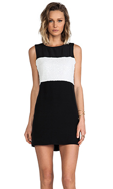 Naven 2 Tone Paneled Twiggy Dress in Black & White