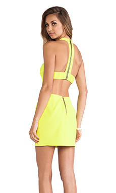 Naven T Back Cutout Dress in Chartreuse