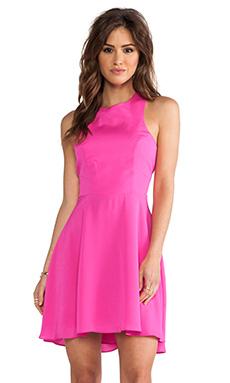 Naven EXCLUSIVE Jackie Circle Skirt Dress in Pop Pink