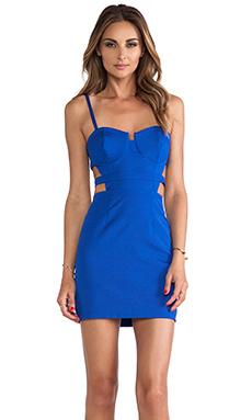 Naven Bustier Mini Dress in Vegas Blue