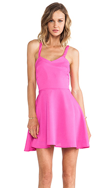 Naven Crossed Circle Mini Dress in Pop Pink