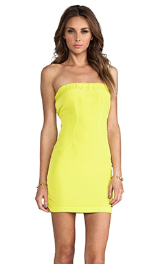 Naven Neon Collection Tube Dress in Chartreuse