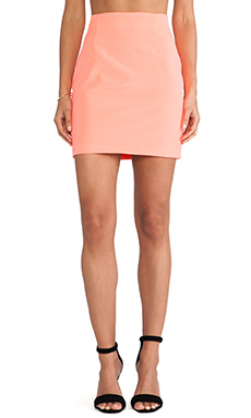 Naven Tube Skirt in Neon Coral