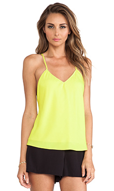 Naven V Neck Baby Doll Top in Chartreuse