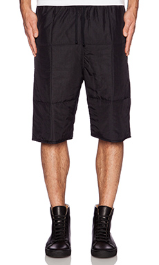 OAK Quilted Baggy Short in Black