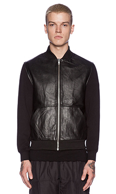 OAK Shell Bomber in Black