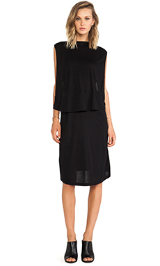 OAK Front Panel Dress in Black
