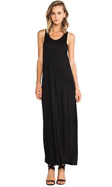 OAK Twist Back Dress in Black